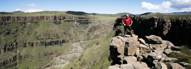 Uppför Sani Pass och genom Lesotho…